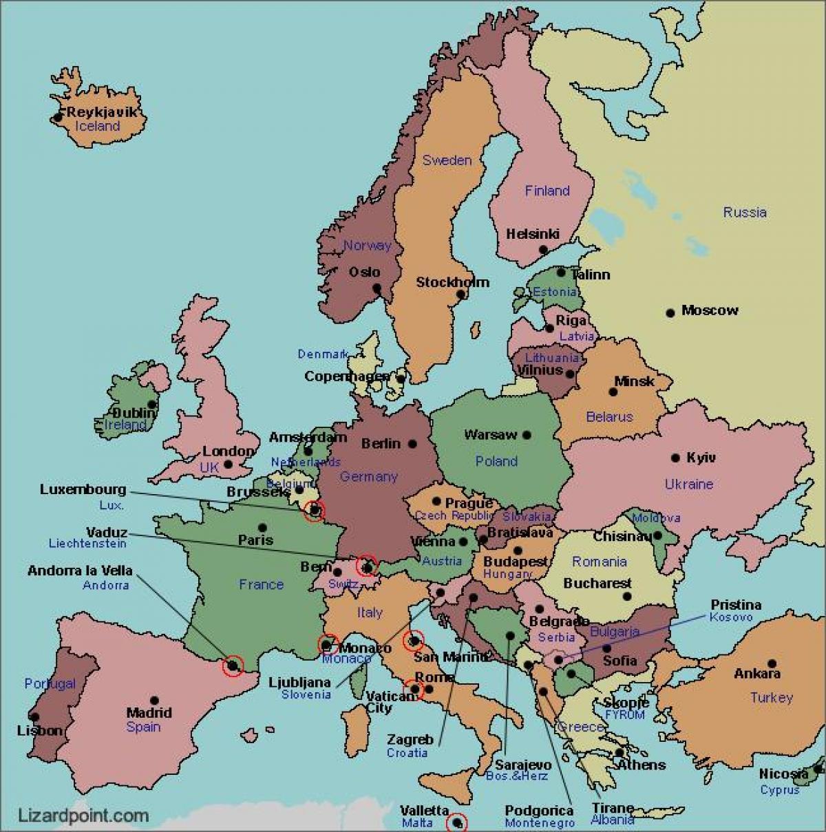 Karta Europa Turkiet.Karta Europa